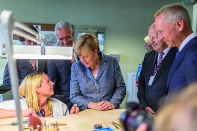 A.LANGE & SÖHNE Manufactory Inauguration 26.08.2015 with Angela Merkel - Glashuette - Photographer: Ben Gierig